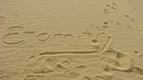 Eternity written in sand